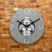 FMC1040 Tasarımlı MDF AHŞAP Duvar Saati 39cm