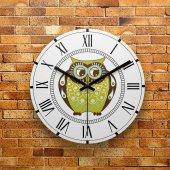 Fmc1019 Tasarımlı Mdf Ahşap Duvar Saati 39cm