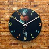 FMC1012 Tasarımlı MDF AHŞAP Duvar Saati 39cm