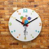 Fmc1011 Tasarımlı Mdf Ahşap Duvar Saati 39cm