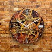 FMC1047 Tasarımlı MDF AHŞAP Duvar Saati 39cm