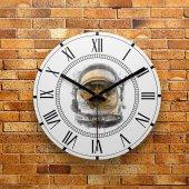 Fmc1008 Tasarımlı Mdf Ahşap Duvar Saati 39cm