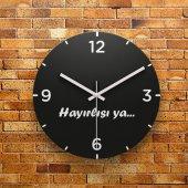 Fmc1052 Tasarımlı Mdf Ahşap Duvar Saati 39cm