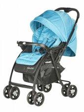 Baby2go 6021 Soft Çİft Yönlü Bebek Arabası -Mavi