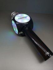 KARAOKE MİKROFON LED IŞIKLI BLUETOOTH HOPARLÖR MP3 MiKROFON KARAOKE SONIA SX-777-4