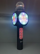 KARAOKE MİKROFON LED IŞIKLI BLUETOOTH HOPARLÖR MP3 MiKROFON KARAOKE SONIA SX-777-5