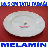 18,5 Cm Kırılmaz Melamin Tatlı Pilav Cheesecake Tabağı