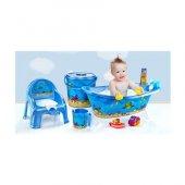 Bebek Banyo Küvet Seti Küvet Takımı Lazımlık 5 Parça
