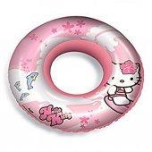 Hello Kitty Baskılı Yüzme Simidi Çocuk Yüzme Simidi 50 Cm