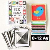 0 12 Ay Bebekler İçin İlk Zeka Kartları Flash Cards Eğitici Kart