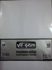 A4 Çizgisiz Parşömen Kağıdı 40 Adet Fotokopi Kağıdı