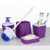 4lü Karden Banyo Seti Wc Fırçası Sabunluk Diş Fırçalığı Wc Fırça