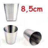 Orijinal Paslanmaz Çelik Bardak Su Bardağı 8,5x6,7 Cm 25 Adet