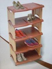 Rattan Ayakkabılık Dekoratif 5 Katlı...