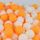 100 Adet Masa Tenisi Topu Pinpon Topu Orta Kalite Beyaz Turuncu
