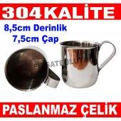 Paslanmaz Çelik Kulplu Bardak Su Bardağı 304 Kalite