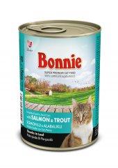 Bonnie Somonlu ve Alabalıklı Kedi maması Konservesi 400 Gr