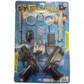 Oyuncak Polis Silah Seti 9 Çeşit Telsiz Kelepçe...