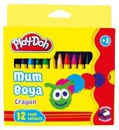 Play Doh 12 Renk Crayon Mum Boya Karton Kutu...