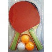 2li Masa Tenisi Raket Seti Ve 3 Adet Masa Tenisi Topu