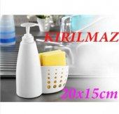 Sembol Kırılmaz Sıvı Sabunluk Sünger Ve Fırça Hazneli