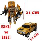 Transformers Hummer Jip Arabaya Dönüşen Robot Işıklı Ve Sesli
