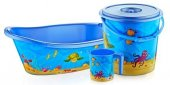 Bebek Banyo Küvet Seti Küvet Takımı 5 Parça 3 Renk