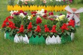 Dekoratif Renkli Geçirmeli Bahçe Çiti 17 Cm...