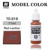 70818 17 Ml. (136) Red Leather Matt Model Color