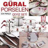 Güral Porselen 224 Parça Çeyiz Seti Yemek...