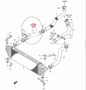 Suzuki Grand Vitara 1.9 İntercoller Hortumu