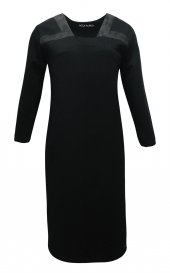 Janset Moda PB-AA7014 Hamile Siyah Elbise-2