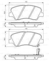 Hyundai Elantra 1.6 2011 2015 Bosch Ön Fren...