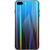 iPhone 8 Plus Kılıf Gravity Cam Kılıf Mavi + Temperli Ekran Korum