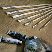 Fanart 258 Serisi Sert Kıllı Yassı Fırça No 22