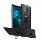 For Samsung Galaxy Note 9 Kılıf Novel Yüzük Tutuculu Standlı Sili