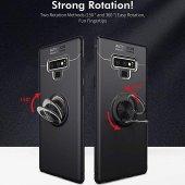 For Samsung Galaxy Note 9 Kılıf Novel Yüzük Tutuculu Standlı Sili-3