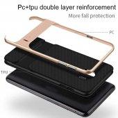For Samsung Galaxy J8 Kılıf Standlı Koruma Hard Case Altın-5