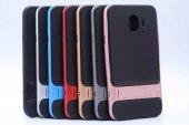 For Samsung Galaxy J8 Kılıf Standlı Koruma Hard Case Altın-6