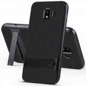 For Samsung Galaxy J4 Kılıf Standlı Koruma Hard Case Mavi-4