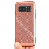 For Samsung Galaxy Note 8 Kılıf Sert Kapak Delikli Rubber Rose Go