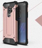 For Samsung Galaxy S9 Kılıf ShockProof Zırh Koruma Rose Gold