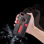 Nillkin Defender iPhone X Kılıf Ultra Koruyucu Hard Case Kırmızı-2