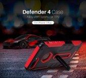 Nillkin Defender iPhone X Kılıf Ultra Koruyucu Hard Case Kırmızı-3