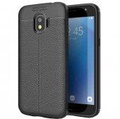 For Samsung Galaxy J2 Pro 2018 Kılıf Deri Görünümlü Silikon Kılıf