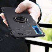 Eiroo Samsung Galaxy A7 2018 Standlı Rose -Siyah Silikon Kılıf-2