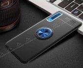 Eiroo Samsung Galaxy A7 2018 Standlı Rose -Siyah Silikon Kılıf-6