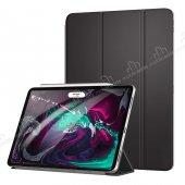 Eiroo Smart iPad Pro 11 Kapaklı Siyah Deri Kılıf