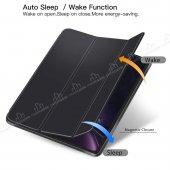 Eiroo Smart iPad Pro 11 Kapaklı Siyah Deri Kılıf-5