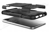 iPhone XS Max Süper Koruma Standlı Lacivert Kılıf-2